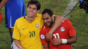Kaka and Shawki at the Confederations Cup